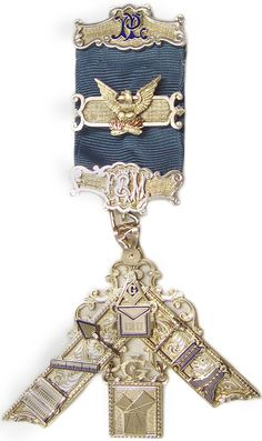 This sterling silver Past Master's Jewel was presented to David Lettelier when he became Worshipful Master of his Lodge. It was passed down from his great-grandfather who was a Past Master in Pennsylvania. Via Phoenixmasonry.org.