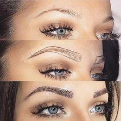Make Up; Make Up Looks; Make Up Augen; Make Up Prom;Make Up Face; Eyebrow Makeup Tips, Permanent Makeup Eyebrows, Makeup Hacks, Eyebrow Pencil, Skin Makeup, Eyebrow Tinting, Eyebrow Shading, Eye Brow Drawing, Drawing Eyebrows