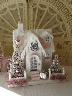 Log in to your Etsy account. Shabby Chic Christmas, Christmas Minis, Pink Christmas, All Things Christmas, Christmas Themes, Holiday Crafts, Vintage Christmas, Christmas Decorations, Victorian Christmas