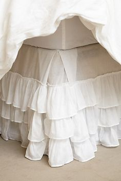 Pleated Ruffles Bedskirt #anthrofave
