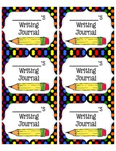 Free Journal Labels Science Writing Math Spelling Reading