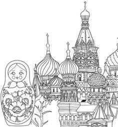 7 Ide Russia Coloring Pages Geografi Sketsa Gambar