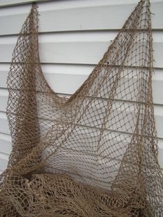 Old Used Fish Netting ~ Vintage Fishing Net Decor ~ Nautical Maritime Decor
