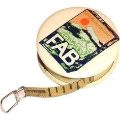 Vintage Colgate FAB Detergent Advertising Celluloid Measuring Tape, 1960's