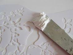 DIY  Embossed Venetian Plaster...   TUTORIAL