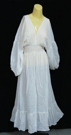 PLUS SIZE Bohemian Gypsy White Cotton Long Sleeve by BohemianRita, $36.00