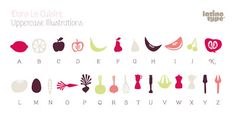 {Typeface Tuesday} A Food Font! /// By Design Fixation