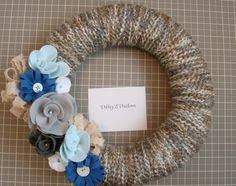 I love wreaths!  Really need to make our front entrance 'prettier'...  Although friends always seem to use our laundry door haha!