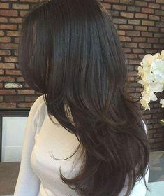 Haircuts For Long Hair With Layers, Haircuts Straight Hair, Long Layered Hair, Long Hair Cuts, Black Hair Haircuts, Medium Hair Styles, Long Hair Styles, Brown Hair Balayage, Cut My Hair