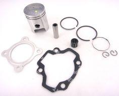 Piston Ring Kit Gasket Wrist Pin Bearing Set For Yamaha PW50 PW 50 Y-Zinger