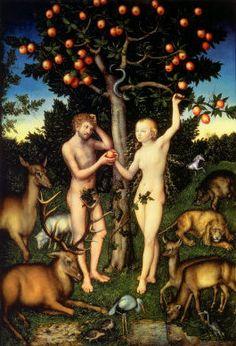 Adam and Eve by Lucas Cranach the Elder (1472-1553)