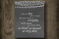 Whimsical Those We Love Wedding Printable - Printable Wedding Sings - Wedding Decor - Whimsical Wedding - Wedding Sign by ellekaydoodle