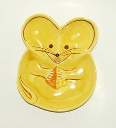 Save 15 OFFVintage Mouse Shaped Yellow by LittleShopTreasures, $12.99