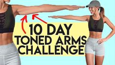 NEW CHALLENGE! It's time to hit up that upper body! 10 Day Workouts, Arm Workouts At Home, At Home Workouts For Women, Monthly Workouts, Body Workouts, 10 Day Challenge, Workout Challenge, Arm Challenge 30 Day With Weights, Back Workout Routine