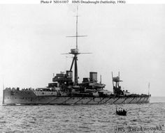 HMS Dreadnought 1906, the first Dreadnought class battleship