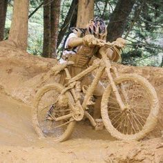 #mtb #dirty #mud #muddy #bicycle For more great pics, follow www.bikeengines.com.