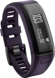 Garmin - Vivosmart HR Activity Tracker + Heart Rate - Purple