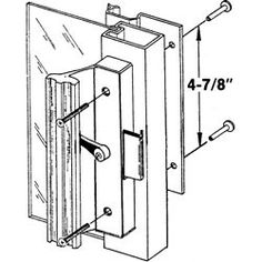 International Pro Source Model 25-4728 Patio Door Handle - Black by International Pro Source, Inc.. $24.99. Black handle, extruded aluminum inside pull with wood grain feature strip. Clamp-latch with metal activator. Flush extruded aluminum outside pull.