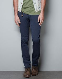 SLIM FIT TROUSERS - Trousers - Man - ZARA United States
