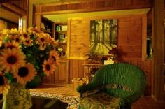 """Cedar House Inn and Yurts in Dahlonega, GA - the place also has a permaculture-style demonstration garden and other """"green"""" features."""