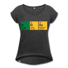 das Wort Nerdy aus einzelnen chemischen Zeichen zusammengesetzt