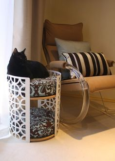 Palm Springs Lounge Ultra Mod Two-Story Cat Bed by hauspanther