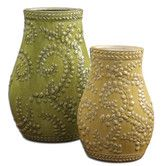 Found it at Wayfair - 2 Piece Trailing Leaves Vase Set