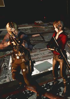 resident evil 6 leon and ada