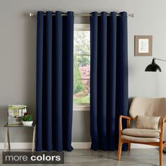 Microfiber Grommet Blackout Curtain Panel | Overstock.com Shopping - The Best Deals on Curtains