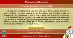 """MISIONEROS DE LA PALABRA DIVINA: MEDITACIÓN DEL EVANGELIO - """"El Espíritu Santo os l..."""