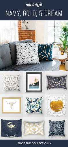 Shop our collection of pillows, blankets, artwork, & more, all featuring this amazing color palette.