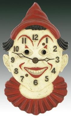 Great Lux Clown Clock  1930s. Learn about your collectibles, antiques, valuables, and vintage items from licensed appraisers, auctioneers, and experts at BlueVault. Visit:  http://www.bluevaultsecure.com/roadshow-events.php