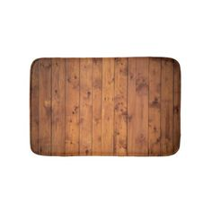 Wood Floor Boards Bathroom Mat - rustic style country natural diy customize personalize