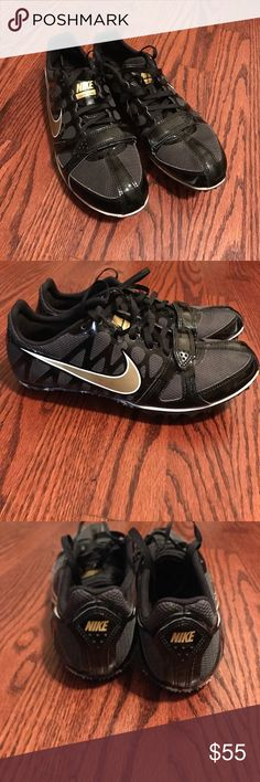 6cfcfcdc7eab Nike Sprint Spikes Track  amp  Field Pre-owned no flaws. Black and Gold