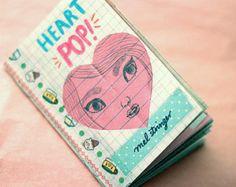 HEART POP! Zine Pack -32 pg, full colour Zine by Mel Stringer