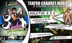#CDMX 3 Viudas y Un Funeral con stripper invitado @charlydiaz69 próximo miércoles 20/sep @teatroniza45