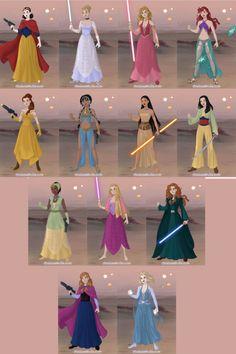 Star Wars Disney Princess by Shokka-chan