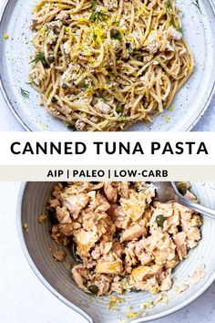 Looking for a quick party food? Here's a 10-minute miracle! A delicious, quick canned tuna pasta recipe made straight from your pantry that's AIP, Paleo, and Low-carb with Hearts of Palm Pasta. Perfect for small parties, too! Easy Paleo Dinner Recipes, Easy Delicious Recipes, Easy Healthy Dinners, Healthy Dinner Recipes, Paleo Meals, Paleo Diet, Keto, Quick Party Food, Tuna Pasta