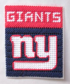 New York Giants tissue box cover plastic canvas PATTERN ONLY