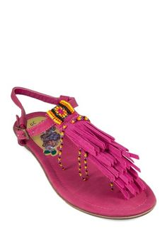 GC Shoes Indie Fringe & Bead Trim Sandal on HauteLook