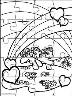 Printable jigsaw puzzles to cut out for kids My little Pony 7 Coloring Pages