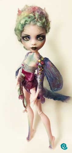 In auction on Ebay ! http://www.ebay.it/itm/OOAK-Custom-Monster-High-Doll-Draculaura-Repaint-Reroot-Art-Doll-/301657160902?