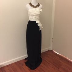 Max & Cleo Black and White Gown Max & Cleo Black and White Gown. Strapless. 100% Polyester. Max & Cleo Dresses Maxi