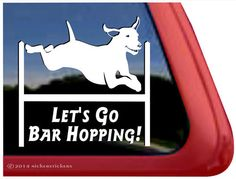 Vizsla Agility Dog Decal - Let's Go Bar Hopping!  #Vizsla #AgilityDog