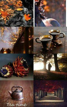 Fall mood board - invitation to Tea.
