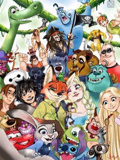 Walt Disney Movies Disney And Dreamworks, Disney Pixar Movies, Disney Cartoons, List Of Disney Characters, Animated Disney Characters, Zootopia Characters, Zootopia Art, Zootopia 2016, Cool Disney