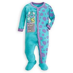 Disney Monsters, Inc. Stretchie Sleeper for Baby   Disney StoreMonsters, Inc. Stretchie Sleeper for Baby - This scary cute polka dot Sleeper is tailored from soft organic cotton featuring full snaps and attached slipper feet. Boo!