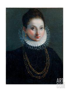 Lucrezia Borgia (probably), by Anonymous artist, 1580-1599. Urbino, Italy. Giclee Print at Art.com