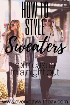 How To Style Swaters + Lipesense Giveaway + Causal Look + Night Time look