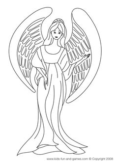 Free Kids Angel Coloring Sheets Courtesy Of Games Central